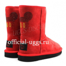 UGG CLASSIC SHORT MICKEY CRUSTAL RED