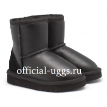 UGG Kids Classic Metallic Black