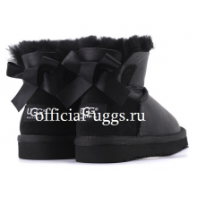 UGG Kids Mini Bailey Bow Metallic Black