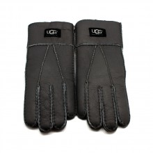 UGG MEN'S GLOVES LEATHER DARK GREY - 1001
