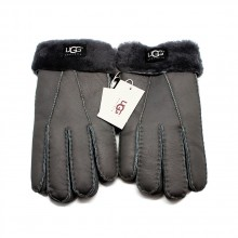UGG MEN'S GLOVES LEATHER GREY - 1002