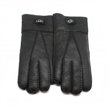 UGG MEN'S GLOVES LEATHER BLACK - 1003