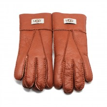 UGG MEN'S GLOVES LEATHER CHESTNUT - 1004