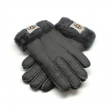 UGG MEN'S GLOVES LEATHER DARK GREY - 1013