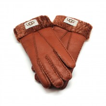 UGG MEN'S GLOVES LEATHER CHESTNUT - 1016