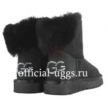UGG CLASSIC MINI BLING BLACK