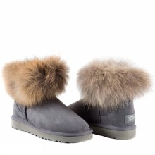 UGG MINI FOX FUR GREY