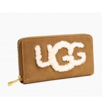 UGG HONEY SHEEPSKIN WALLET CHESTNUT