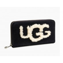 UGG HONEY SHEEPSKIN WALLET BLACK