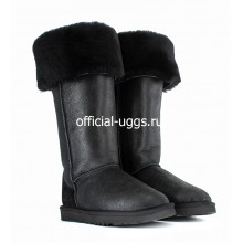 UGG BOOTS OVER KNEE BAILEY BUTTON BOMBER BLACK II
