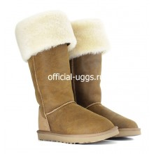 UGG BOOTS OVER KNEE BAILEY BUTTON BOMBER CHESTNUT II