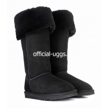 UGG BOOTS OVER KNEE BAILEY BUTTON BLACK II