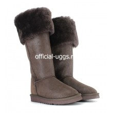 UGG BOOTS OVER KNEE BAILEY BUTTON BOMBER CHOCOLATE II