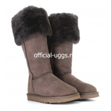 UGG BOOTS OVER KNEE BAILEY BUTTON CHOCOLATE II