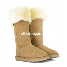 UGG BOOTS OVER KNEE BAILEY BUTTON CHESTNUT II