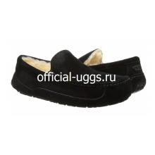 UGG MOCCASINS MEN'S ASCOT BLACK