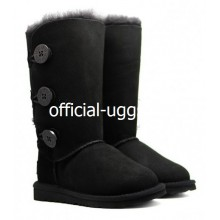 UGG KIDS BAILEY BUTTON TRIPLET BLACK