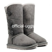 UGG KIDS BAILEY BUTTON TRIPLET GREY
