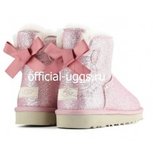 UGG BAILEY BOW MINI SPARKLE PINK