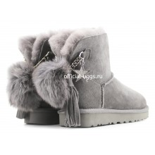 UGG MINI CHARM GOAT ASH GREY
