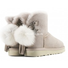 UGG MINI CHARM GOAT ASH LIGHT GREY
