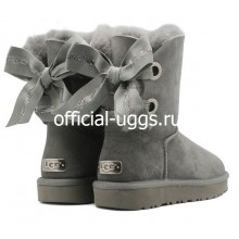 UGG BAILEY BOW CUSTOMIZABLE GREY
